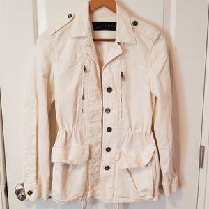 Creme colored utility jacket